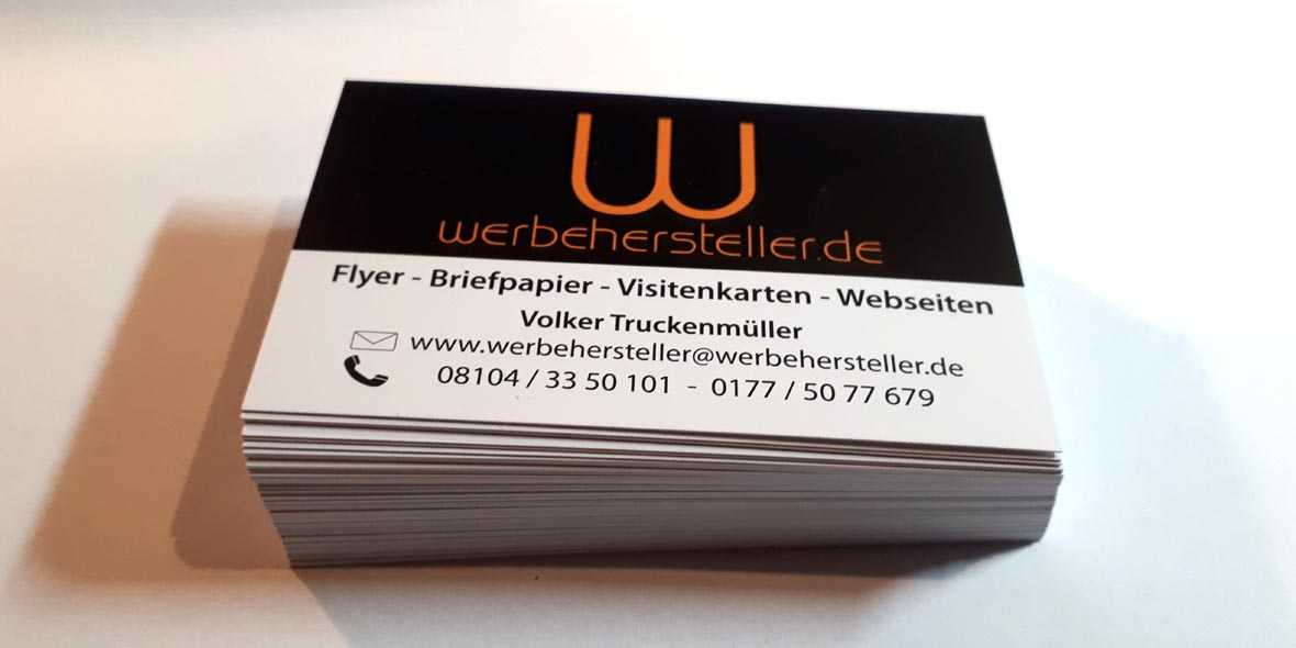 Visitenkarten Werbehersteller, www.werbehersteller.de