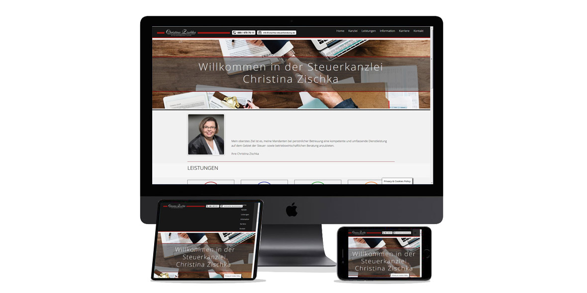 Webdesign screens, www.werbehersteller.de